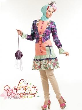 T 0513002 Baju Muslim Gamis Modern