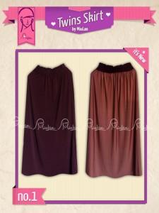 Twins Skirt MiuLan 1. Ungu - Cokelat
