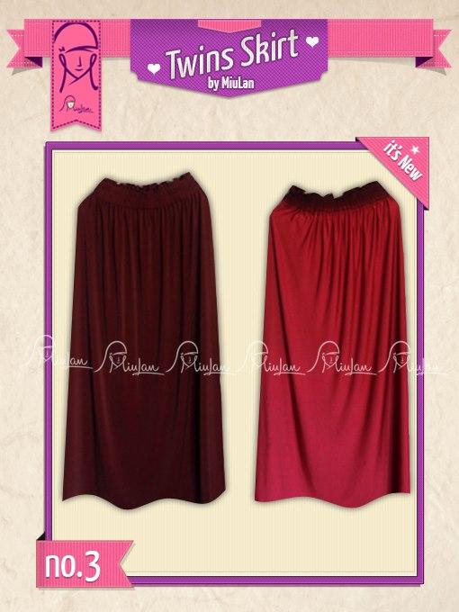 Twins Skirt MiuLan 11. Elektrik - 3. maroon-merah