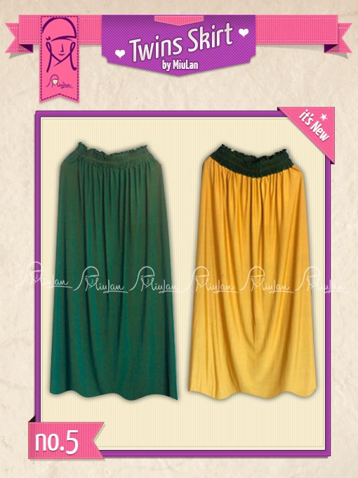 Twins Skirt MiuLan 5. Tosca-Yellow