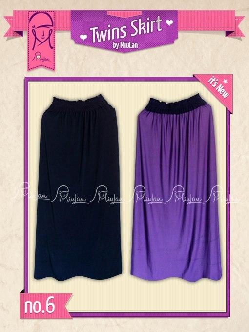 Twins Skirt MiuLan 6. Ungu - Dongker