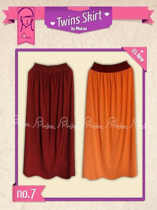 Twins Skirt MiuLan 7. Cokelat - Orange