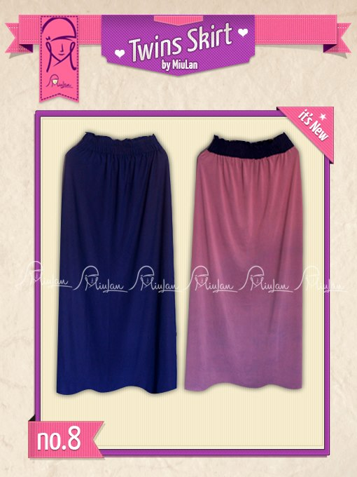 Twins Skirt MiuLan 8. Electric - Dusty Pink