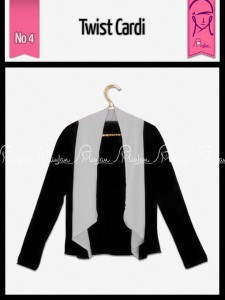 Twist Cardi Warna Black