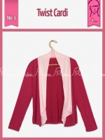 Twist Cardi Warna  Dusty Pink