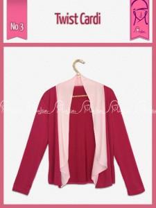 Twist Cardi Warna  Dusty Pink