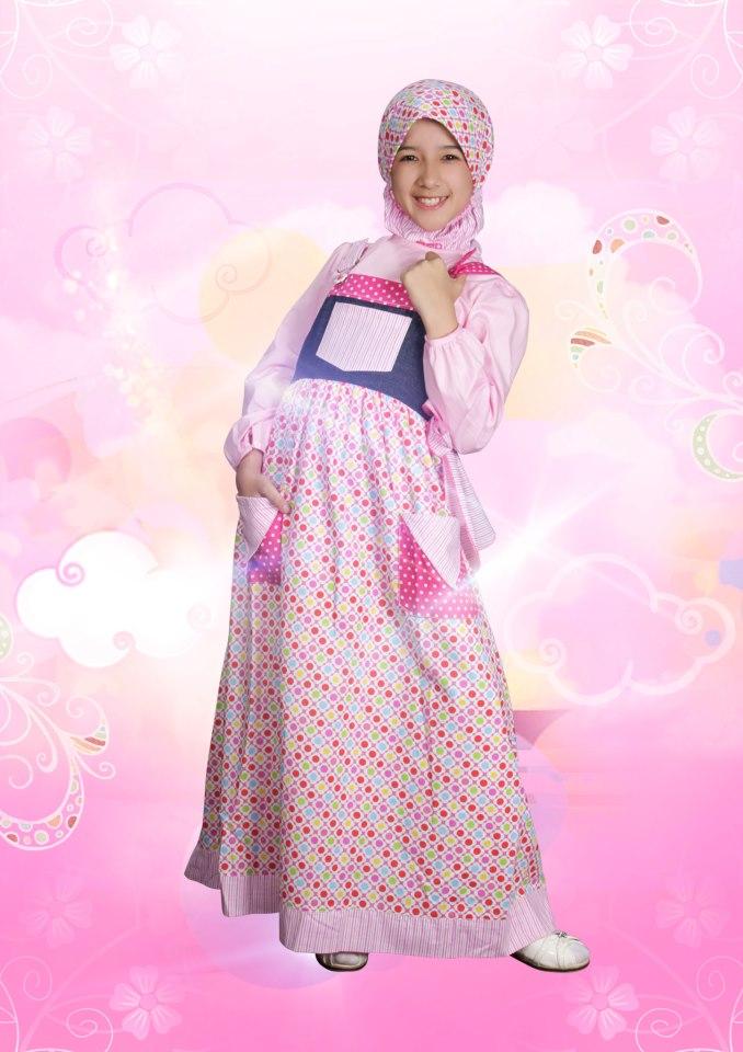 Aini Kids 120903 Jeans Baju Muslim Gamis Modern