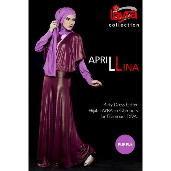 gamis aprilina purple