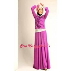 new almira ungu. pusat baju gamis