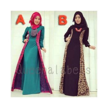Queena Lenka A B Baju Muslim Gamis Modern