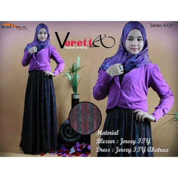 voreta purple, busana muslimah cantik terkini