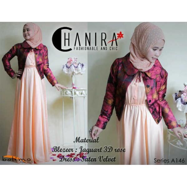 B Chanira Orange Baju Muslim Gamis Modern