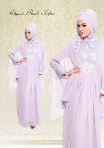 Elegant Purple Kaftan