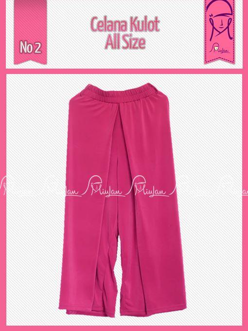 Kulot As Shoking Pink Baju Muslim Gamis Modern