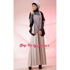 STEP UP LENATHA atasan dark grey