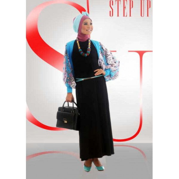 Step up LIMOZEIN tosca dress hitam