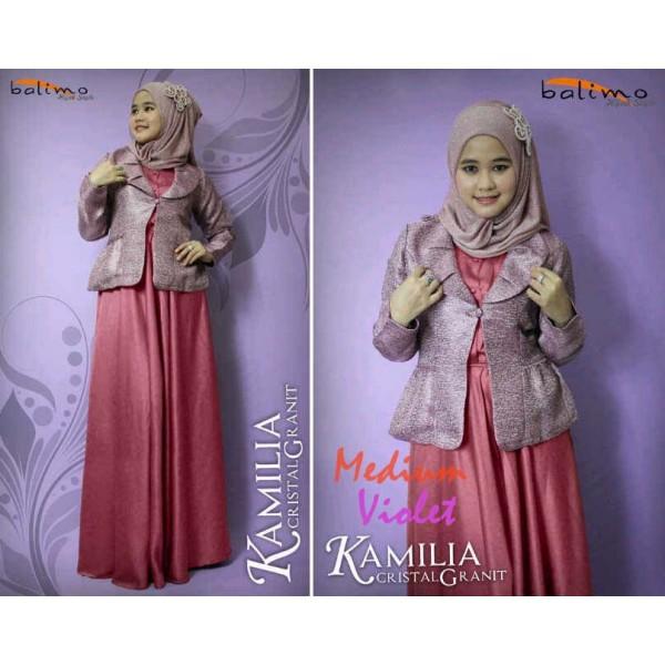 Cristal G Purple Baju Muslim Gamis Modern