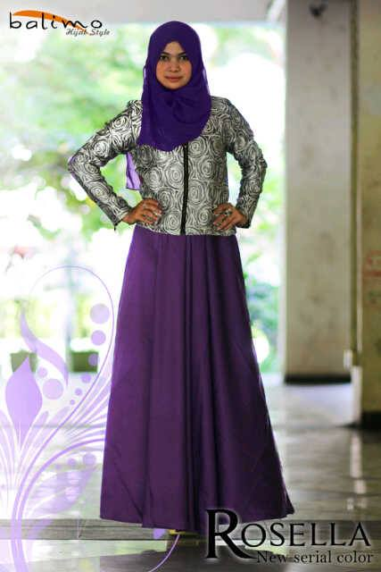 Rosella Purple Baju Muslim Gamis Modern