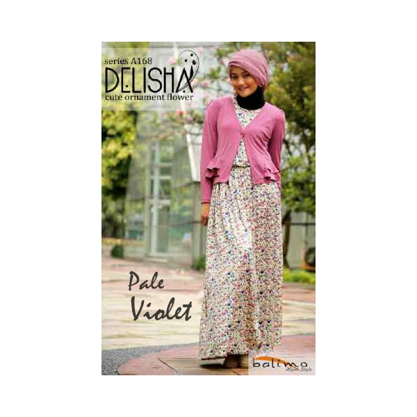 Delisha P Violet Baju Muslim Gamis Modern