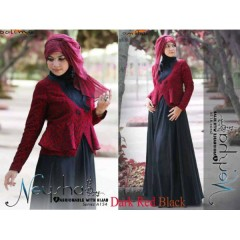 Neysha Dark Red Black