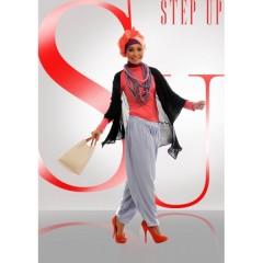 Busana Hijabers Step up Arvina Cardi Hitam,baju muslim,step up,gamis terbaru