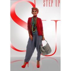 baju muslim terbaru 2013 online Step up Arvina Cardi Merah,baju muslim,step up,gamis terbaru