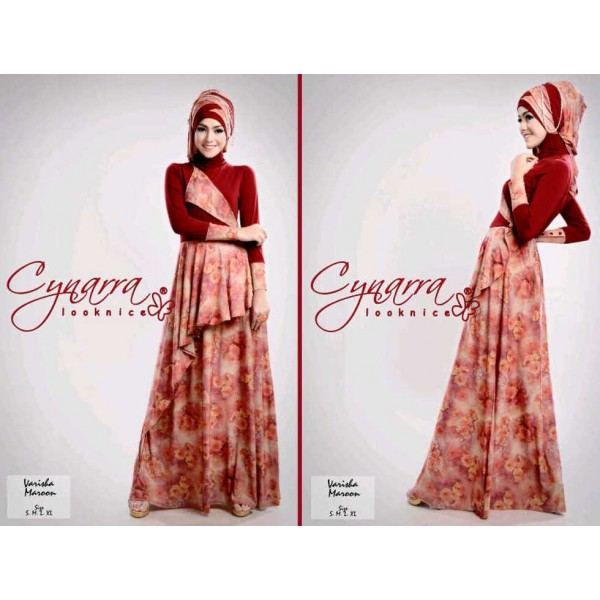 VARISHA DRESS by Cynarra Merah Marun