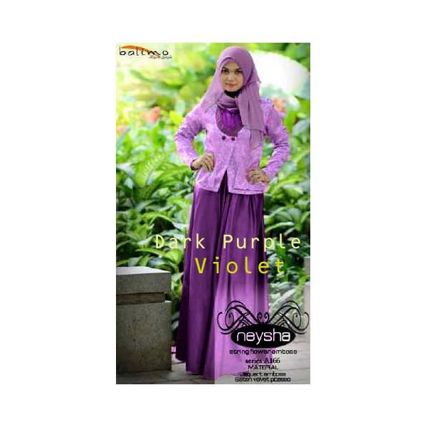 Neysha Violet Baju Muslim Gamis Modern