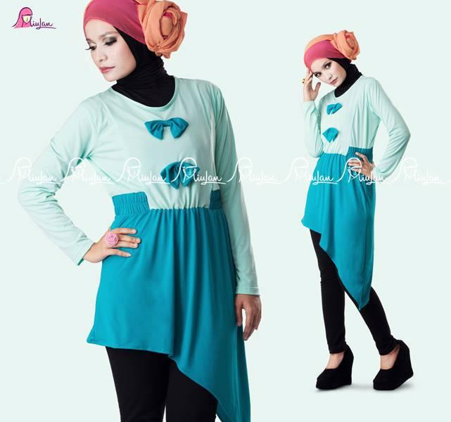 Ribbonita B Tosca Baju Muslim Gamis Modern