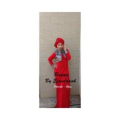 baju muslimah online Rayya by Evan doank Merah Abu
