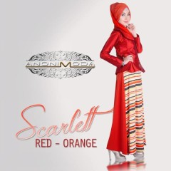 SCARLETT DRESS by Anonimoda Red Orange