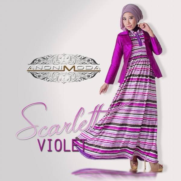 Scarlet Violet Baju Muslim Gamis Modern