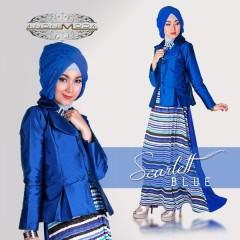 SCARLETT DRESS by Anonimoda blue
