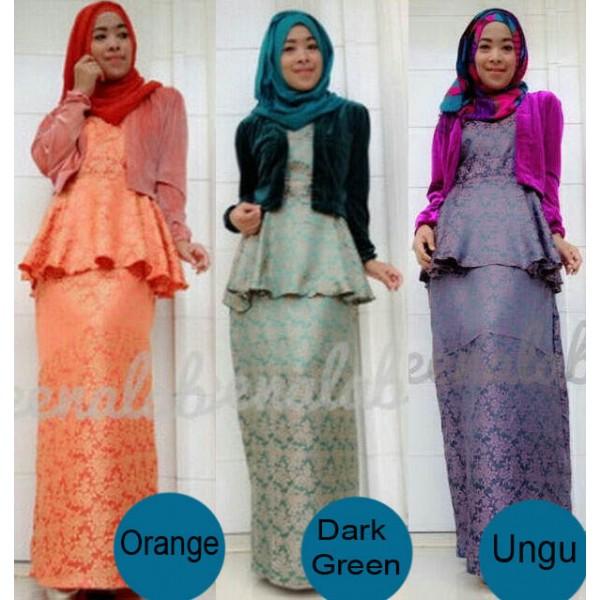 Joana By Queena Orange Baju Muslim Gamis Modern