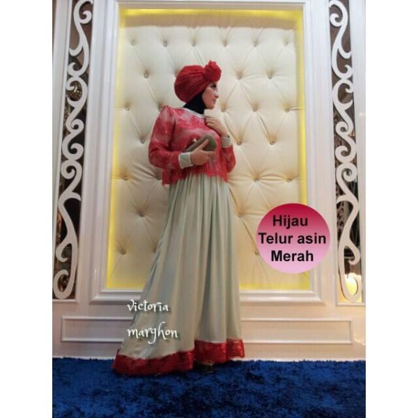 Victoria Hij Merah Baju Muslim Gamis Modern