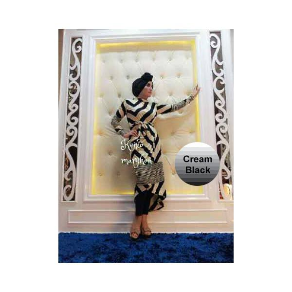 New Victoria Cream B Baju Muslim Gamis Modern
