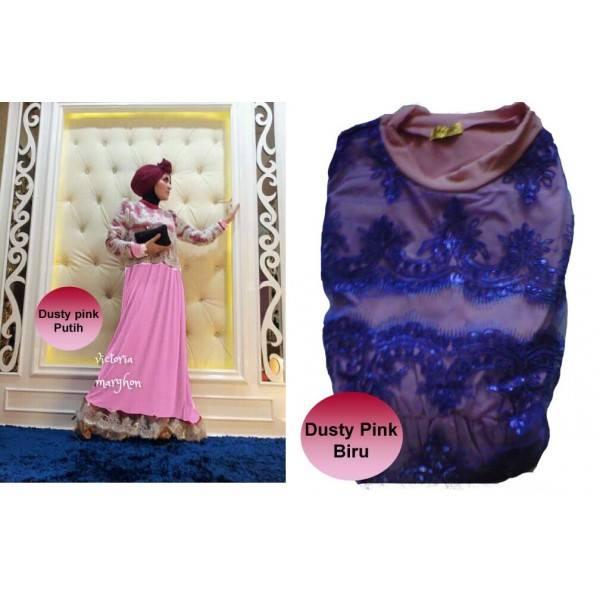 New Victoria D Pink Baju Muslim Gamis Modern