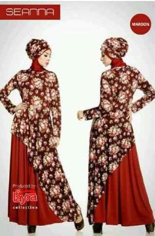 model baju pesta Gamis Terbaru SEANNA  By Layra Marun