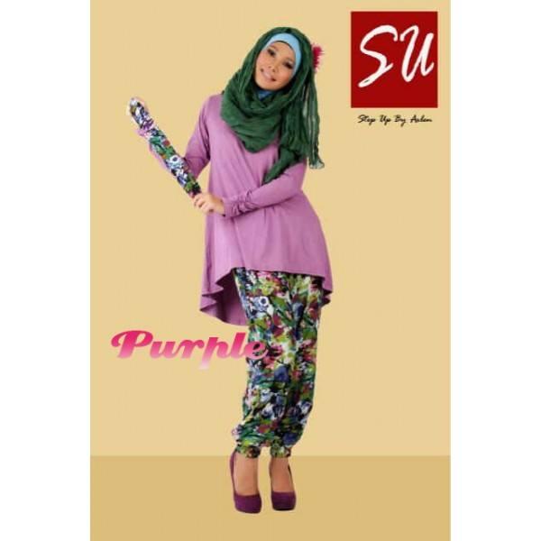 Su Nikita 2 Purple Baju Muslim Gamis Modern