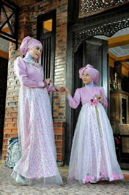 Naura Fikri 016 Pink Baju Muslim Gamis Modern