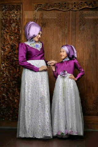 baju muslim dress panjang  016 ungu bunda 580rb include pasmina, anak 2-6 300rb,8-12 350rb
