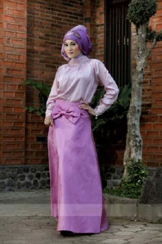 baju muslim gaya  018 pink 580rb include pasmina+dompet