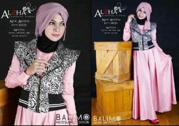 busana wanita terbaru BALIMO ALZHA Soft Pink