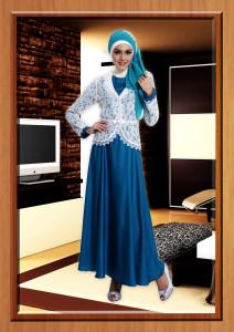 gaun muslim pesta mewah Jasmine Turkish