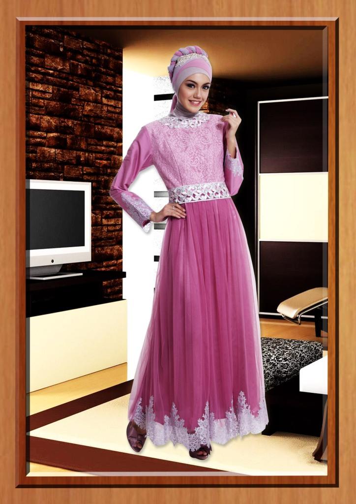 Cleopatra Pink Baju Muslim Gamis Modern