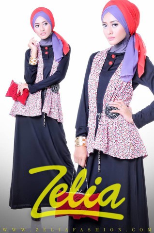 Zelia Coriander dress Hitam