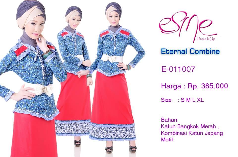 E 011007 Baju Muslim Gamis Modern