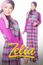 Gamis Hijabers Cattleya Dress ungu