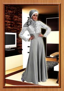 busana hijabers trendy Cavalli Silver