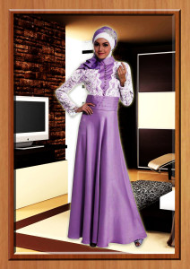 gaun muslimah online Cavalli Ungu by Aini Clothing